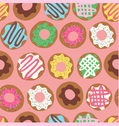 Donut allover peach vector