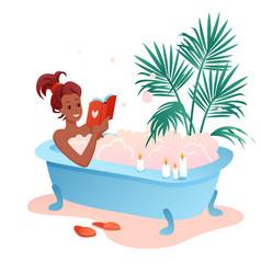 enjoy bath time flat cartoon vector image
