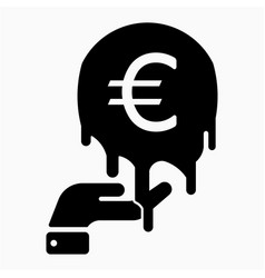 Euro inflation icon vector
