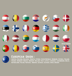 European union round flags vector