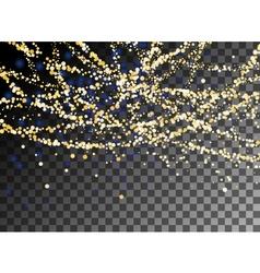 Falling Christmas shining gold glitter snowfall vector