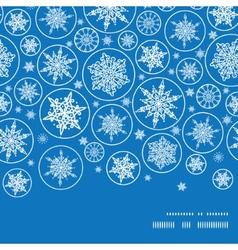 Falling snowflakes horizontal frame seamless vector