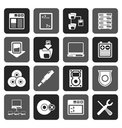 Flat Server Side Computer icons vector