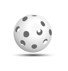 Floorball ball white on a white background with a vector