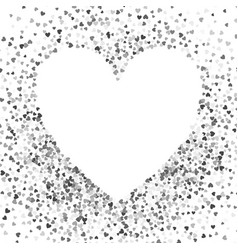 frame or border random scatter hearts vector image