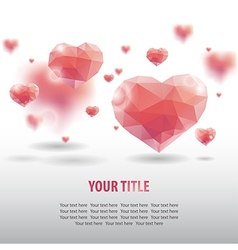 geometric heart background vector image