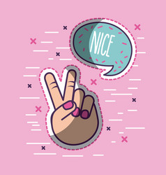 girly icon image vector image