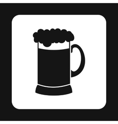 Glass of beer icon simple style vector image