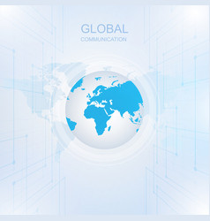 Global communication with digital technology vector