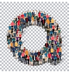 group people shape letter A Transparency vector image
