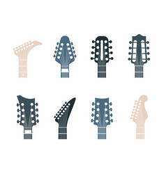 Guitars headstock logo realistic modern or retro vector