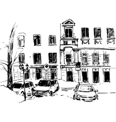hand drawn urban sketch vector image