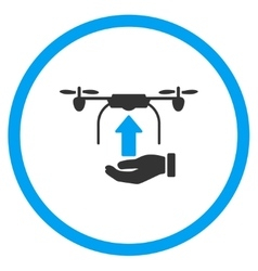 Hand Launch Airdrone Icon vector