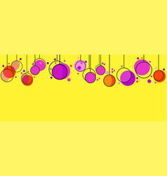 Hanging christmas balls memphis style celebratory vector