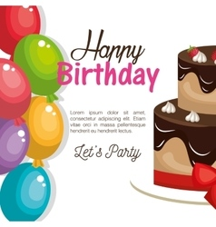 happy birthday celebration card vector image