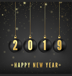 happy new year 2019 new year and christmas vector image