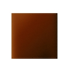 Isolated leather texture design vector