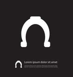 isolated shoe icon horseshoe element can vector image