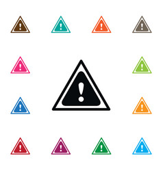 isolated traffic icon safety element can vector image