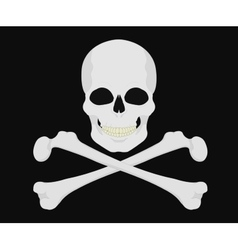 Jolly Roger Skull with crossbones vector