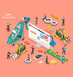 Lead generation flat isometric concept vector