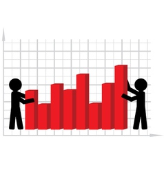 lifting of economic indicators vector image