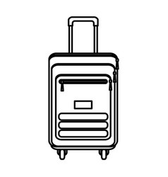 line travel backpack tourism equipment style vector image