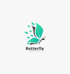 logo butterfly elegant silhouette style vector image