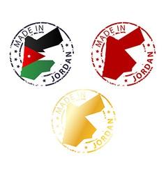 made in Jordan stamp vector image