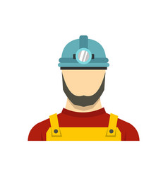male miner icon flat style vector image