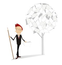 Man and document tree vector