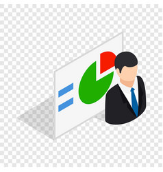 man and statistics isometric icon vector image