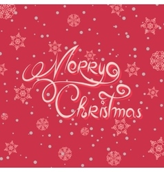 Merry Christmas lettering design Hand drawn vector image