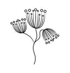 minimalist tattoo flowers delicate floral line art vector image