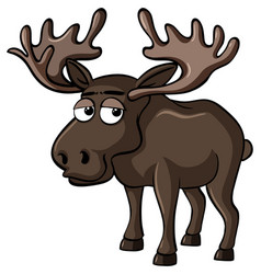 Moose with sleepy face vector