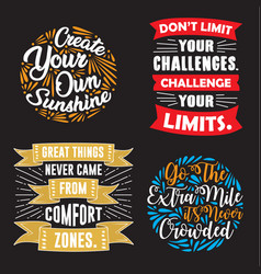 motivation quote and saying set good for print vector image