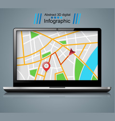 notebook maps pin vector image