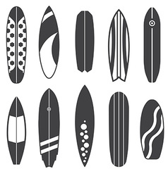 Outline Surfing Board Icons vector