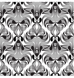 paisley black and white seamless pattern vector image
