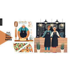 Pizza house - small business graphics - baker and vector