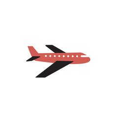 plane transportation icon design template vector image