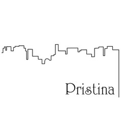 Pristina city one line drawing background vector