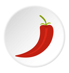 red hot chili pepper icon circle vector image