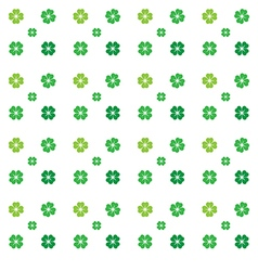 Seamless pattern clovers on white backg vector image