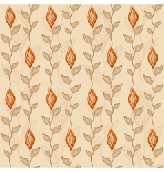 Seamless pattern with flower and leaves vector image