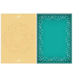 set - beige and green backgrounds with music notes vector image