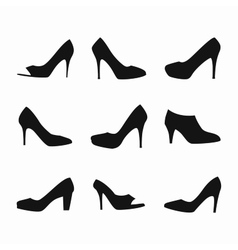 shoes silhouettes vector image