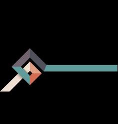 simple retro style banner design vector image
