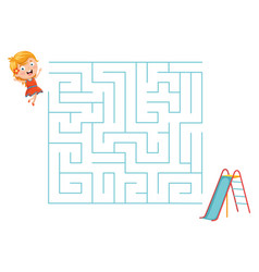 slide maze vector image