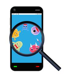 Smartphone detected a virus vector